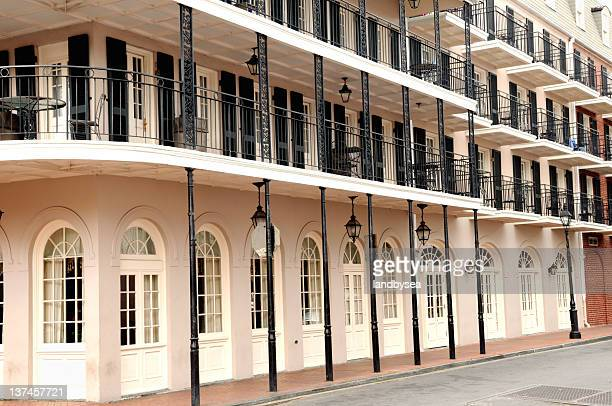 french quarter new orleans building - new orleans french quarter stock photos and pictures