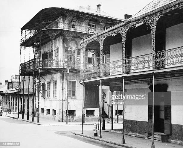 French Quarter New Orleans LA Le Prete Mansion is said to be the birthplace of the South's 'Dixie' band notes The building was used by the citizen...
