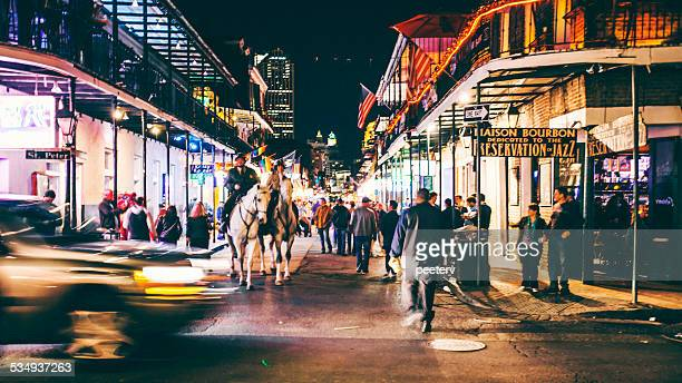french quarter nightlife. - new orleans french quarter stock photos and pictures