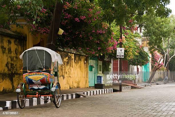 French Quarter, street scene with cycle rickshaw