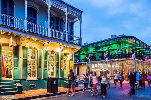 French Quarter, view of Bourbon Street at twilight