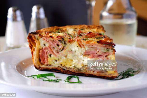 French Quiche with Ham and Cheese
