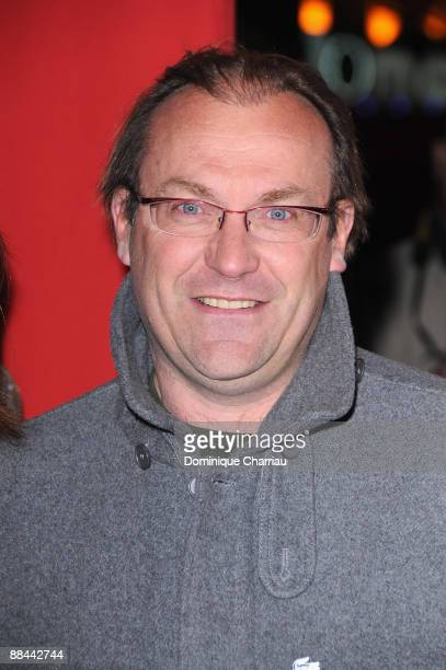 French racing cyclist Laurent Fignon attends Asterix At The Olympic Games Paris Premiere at the Gaumont Marignan Champs Elysees on January 13, 2008...
