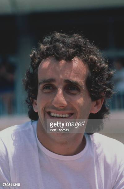 French racing driver Alain Prost pictured at a racing circuit during competition in the FIA Formula One World Championship season circa 1988