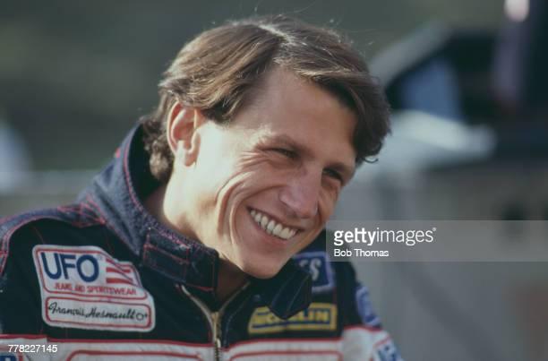 French racing driver Francois Hesnault, driver of the Ligier Loto Ligier JS23 Renault V6, pictured during the 1984 FIA Formula One World Championship...