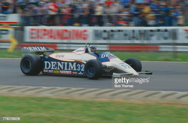 French racing driver JeanPierre Jarier drives the Osella Squadra Corse Osella FA1B Ford Cosworth DFV 30 V8 to finish in 8th place in the 1981 British...