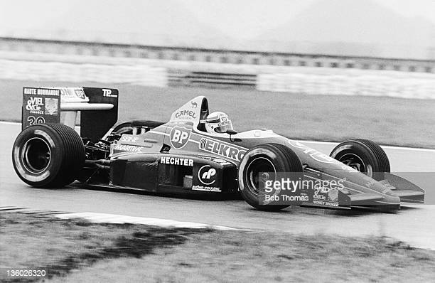 French racing driver Philippe Alliot drives the Larrousse Calmels Lola LC88 Cosworth V8 in the 1988 Brazilian Grand Prix in Rio de Janeiro Brazil on...