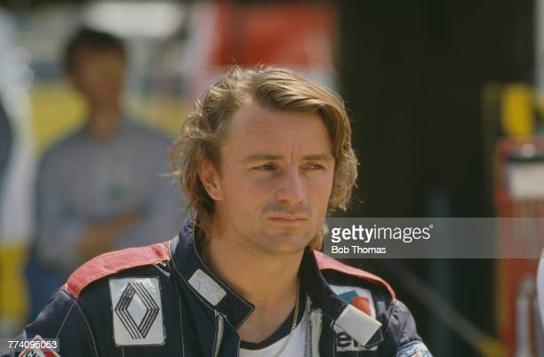 French racing driver Rene Arnoux, driver of the Equipe Renault Elf Renault RE30B Renault-Gordini EF1 1.5 V6t racing car, pictured during the 1982...
