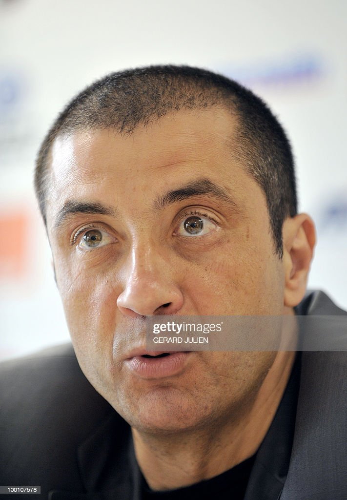 French Racing rugby club of Toulon (RCT) president Mourad Boudjellal gives a press conference on May 19, 2010 in Toulon, southern France.