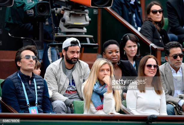 French radio presenter Cyril Hanouna attends the women's final match between Spain's Garbine Muguruza and the US's Serena Williams at the Roland...