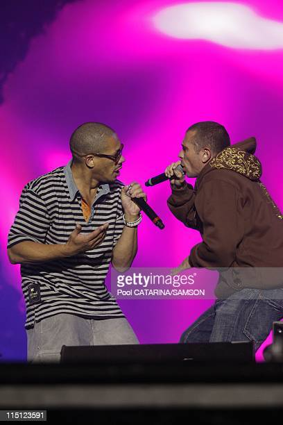 French Rap Group NTM performing live at Solidays Festival in Paris France on July 05 2008 JoeyStarr and Kool Shen