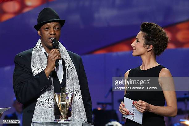 French rap singer Abdoulaye Diarra, known as Oxmo Puccino gives a speech after winning the award of the best urban music album of the year award...