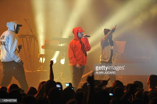 """French rap singer """"Orelsan"""" performs during the 36th edition of 'Le Printemps de Bourges' rock and pop festival in the French city of Bourges on..."""