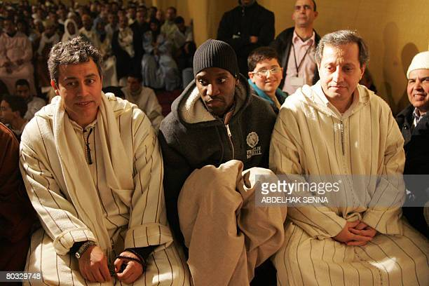 French rapper Abdel Malik attends a wake headed by Moroccan Sufi spiritual leader Sidi Hamza Boutchichi to mark the anniversary of Prophet Mohammed...