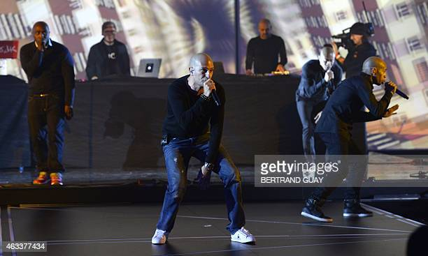French rapper Akhenaton from the French rap band IAM perform during the 30th Victoires de la Musique the annual French music awards ceremony on...