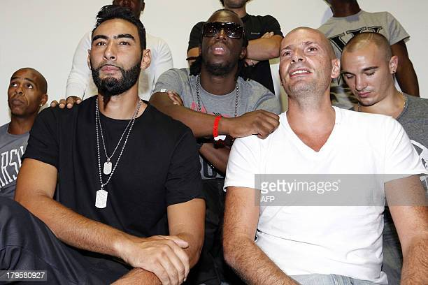 French rappers Shurik'n aka Geoffroy Mussard of IAM Laouni Mouhid aka La Fouine Youssoupha Mabiki aka Youssoupha Akhenaton aka Philippe Fragione of...