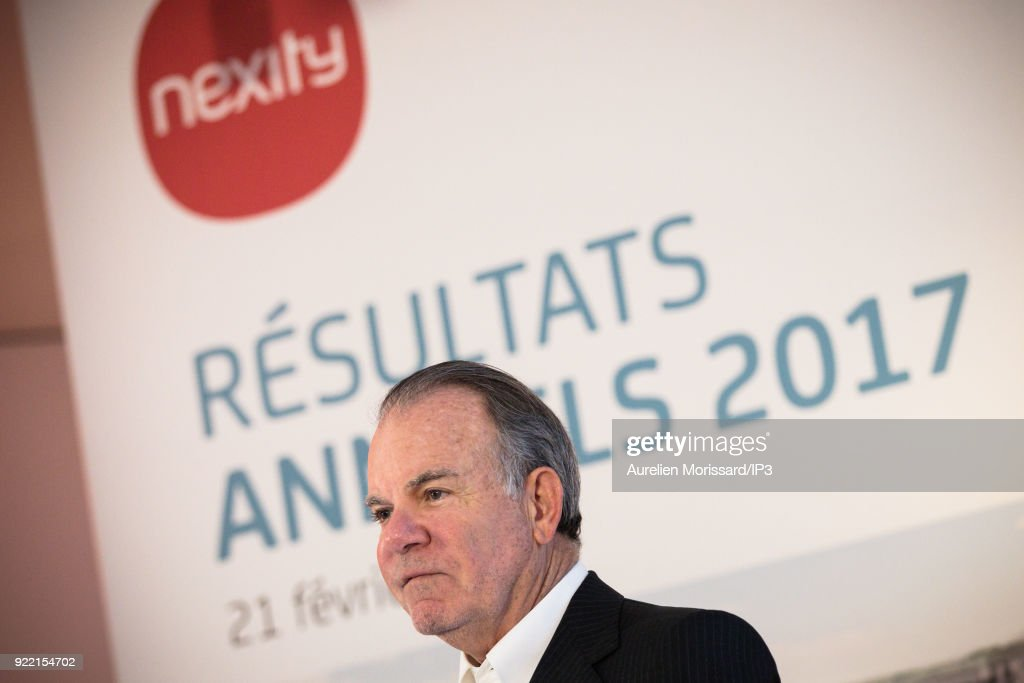 Nexity Group Presents Its Annual Results In Paris : News Photo