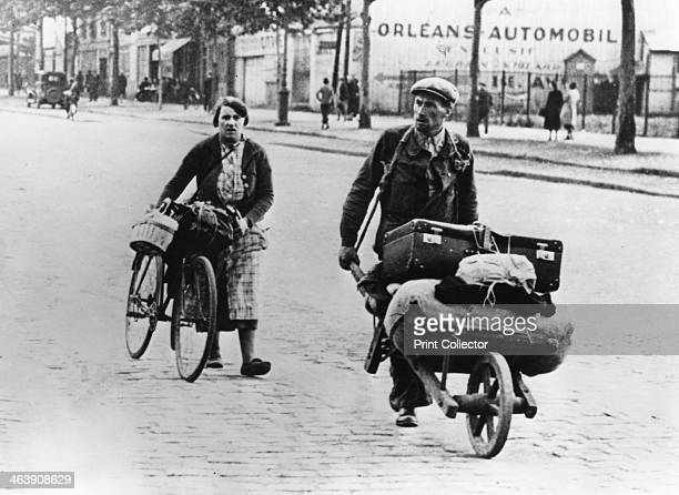 French refugees returning home after the fall of France to the Germans Paris July 1940
