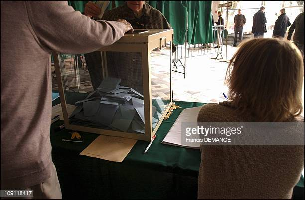 French Regional Election 1St Round Illustration On March 21 2004 In Nancy France