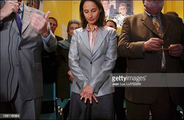 French Regional Elections 2Nd Round Socialist Party Leader Francois Hollande And Wife Segolene Royal Support JeanPaul Denanot The Socialist Candidate...
