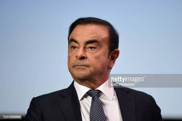 French Renault group CEO and chairman of Japan's Nissan Motor CO Ltd and Mitsubishi Motors Corp Carlos Ghosn attends the event Tomorrow in Motion on...