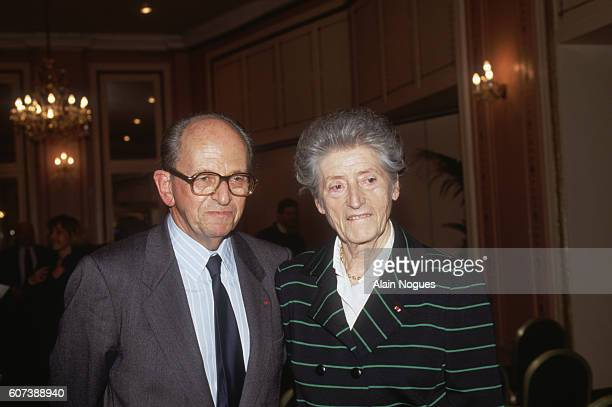 French Resistance leader Raymond Aubrac and his wife Lucie during his 1991 trial after being accused of betraying Jean Moulin The charges began in...