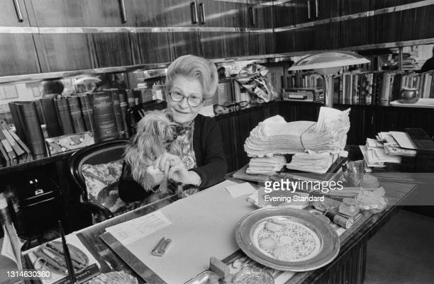 French restaurateur and food writer Simone Prunier, known as Madame Prunier, UK, 6th May 1974.