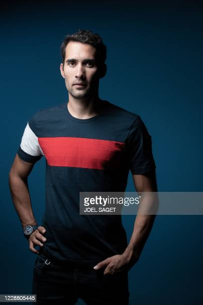 French retired biathlete, five time Olympic champion and seven crystal globes owner, Martin Fourcade poses during a photo session in Paris on...