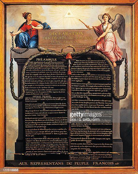 French Revolution Declaration of the Rights of Man and of the Citizen decreed by the National Assembly and accepted by the King on August 26 1789