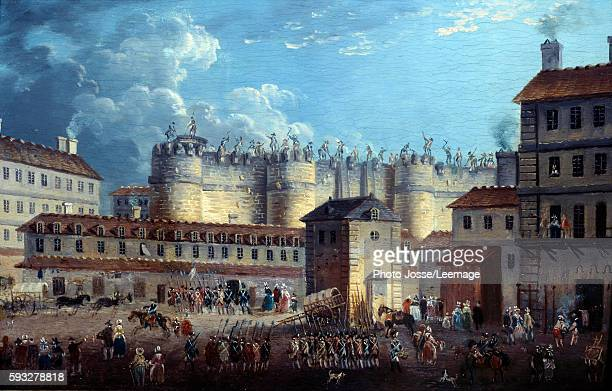 Demolition of the Bastille on 17 July 1789' The fortress is destroyed by the building contractor PierreFrancois Palloy selfstyled as Palloy the...