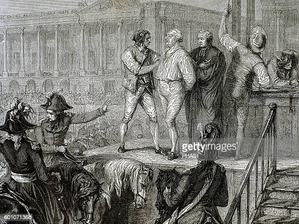 French Revolution Execution of Louis XVI of France in the Revolution Square 21 January 1793 Paris Engraving 19th century