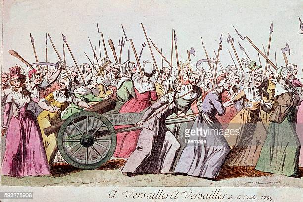 March of the Women on Versailles from Paris 5th October 1789 Engraving Paris musee Carnavalet