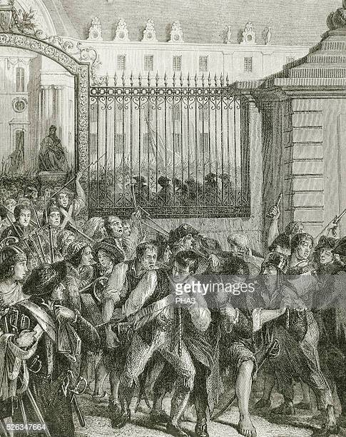 French Revolution Storming the Bastille 14 July 1789 The partisans of the 3rd Estate of Paris storming the Hotel des Invalides to gather arms...