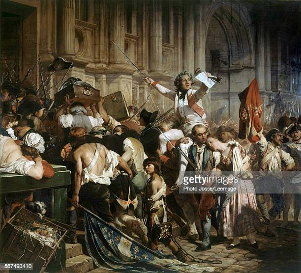 The Conquerors of the Bastille before the Hotel de Ville in 1789 Painting by Hippolyte Delaroche 1839 Petit Palais Museum Paris