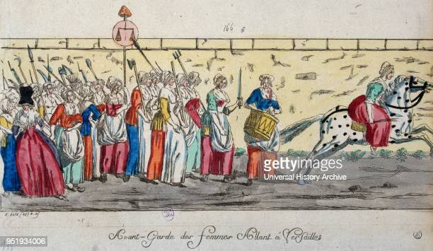 French revolutionary women march to the Palace at Versailles 1789