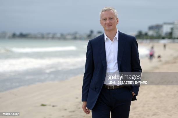 French right-wing Les Republicains party MP and candidate for LR party's primary for the 2017 presidential elections, Bruno Le Maire, poses on the...