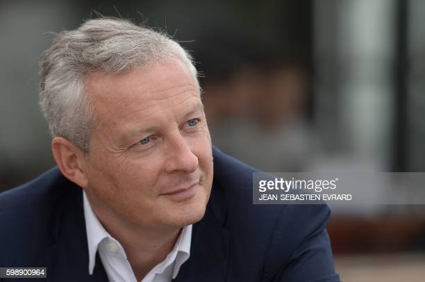 French right-wing Les Republicains party MP and candidate for LR party's primary for the 2017 presidential elections, Bruno Le Maire, is pictured as...