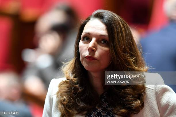 French rightwing Les Republicains party MP Valerie Boyer attends a session of Questions to the government on May 23 2018 at the National Assembly in...