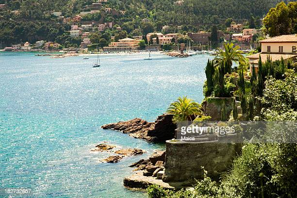 french riviera landscape - alpes maritimes stock pictures, royalty-free photos & images
