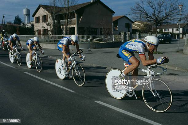 French road racing cyclist Laurent Fignon during the 1991 Paris-Nice.