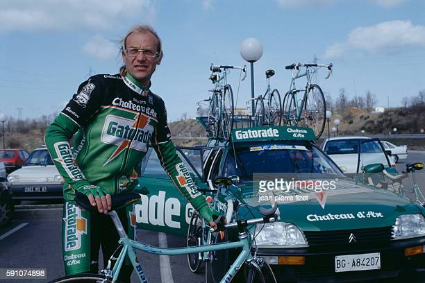 French road racing cyclist Laurent Fignon during the 1992 Paris-Nice.