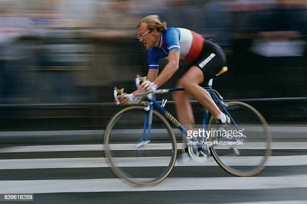 French road racing cyclist Laurent Fignon, winner of the 1984 French National Road Race Championships.