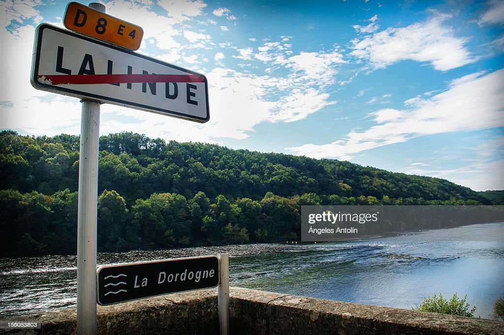 French road signs in beautiful settings. : Stock Photo