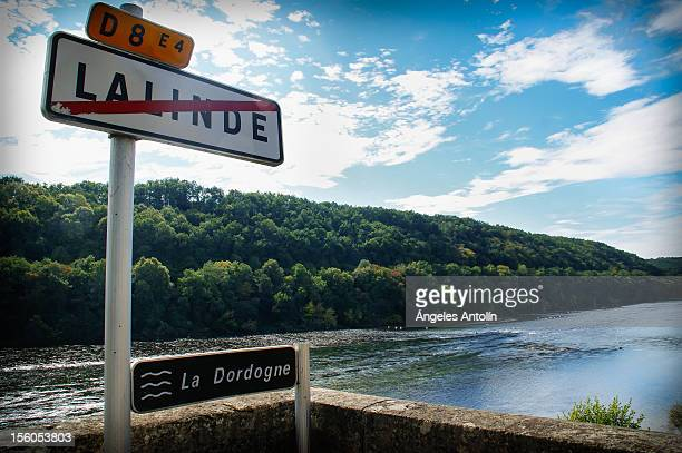 French road signs in beautiful settings.