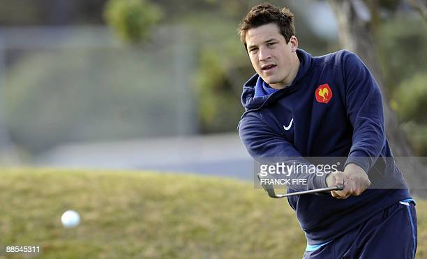 French rugby player Francois TrinhDuc plays golf at the Miramar Golf Course in Wellington on June 18 2009 France on June 17 made three changes to...