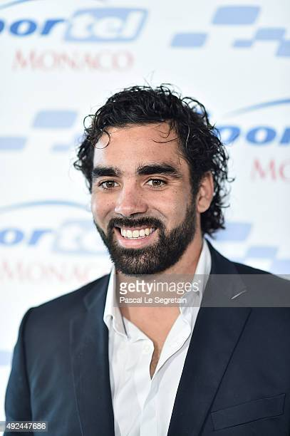 French Rugby player Yoann Huget attends the 26th edition of Sportel Monaco at Grimaldi Forum on October 13 2015 in MonteCarlo Monaco