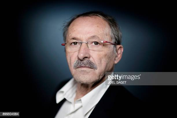 French Rugby Union national team coach Jacques Brunel poses during a photo session in Paris on December 27 2017 Bordeaux boss Brunel takes over from...