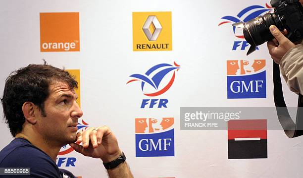French Rugby Union national team head coach Marc Lievremont attends a press conference on June19 2009 in Wellington New Zealand France on June 17...