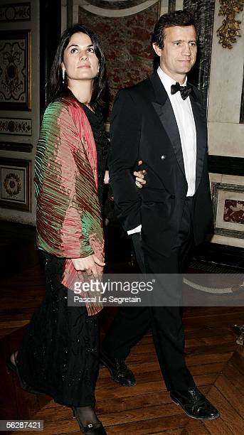 French Rugbyman Fabien Galthie and his wife Coline attend the international evening of the child event on November 28 2005 in Versailles France