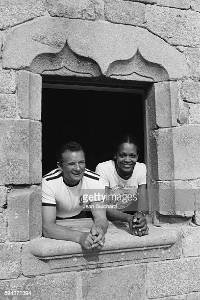 French sailor Eric Tabarly and his wife Jacqueline at home near Quimper